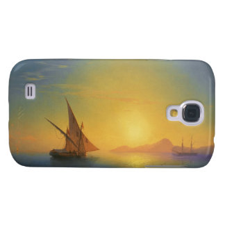 Sunset over Ischia Ivan Aivazovsky seascape waters Samsung Galaxy S4 Covers