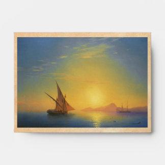 Sunset over Ischia Ivan Aivazovsky seascape waters Envelope