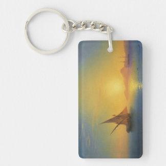 Sunset over Ischia Ivan Aivazovsky seascape waters Keychain