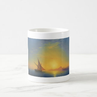 Sunset over Ischia Ivan Aivazovsky seascape waters Classic White Coffee Mug