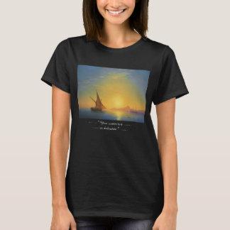 Sunset over Ischia Ivan Aivazovsky seascape waters T-Shirt