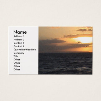 Kauai business cards templates zazzle sunset over island profile card reheart Image collections
