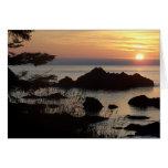 sunset over Juan De Fuca Cards