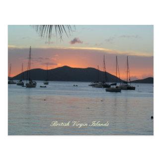 Sunset over JVD (title) Postcard