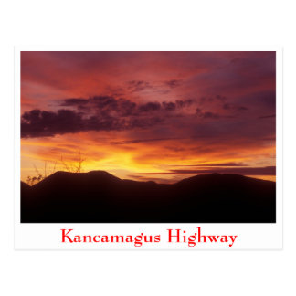 Sunset over  Kancamagus Highway Postcard