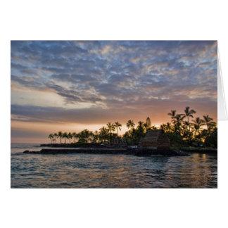 Sunset Over Kona Hawaii Greeting Card