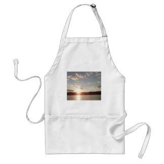 Sunset Over Lake Adult Apron
