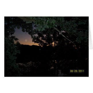 Sunset over lake in Forest Lake, Minnesota Card