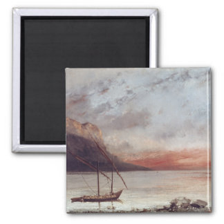Sunset over Lake Leman, 1874 Magnet