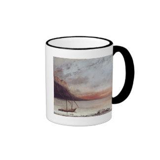 Sunset over Lake Leman, 1874 Ringer Mug