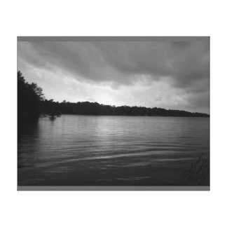 Sunset Over Lake Marion - B&W Canvas Canvas Prints