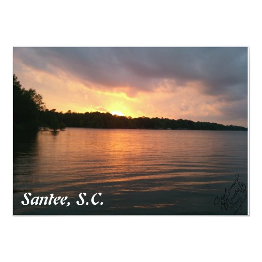 Sunset Over Lake Marion - Invitation