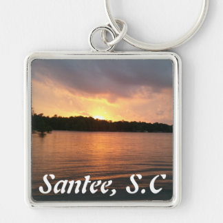 Sunset Over Lake Marion - Keychain