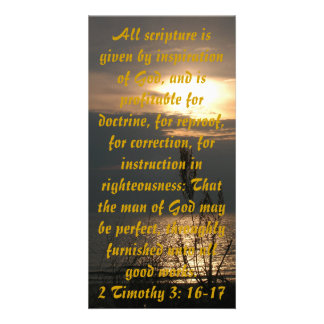 Sunset over Lake Michigan Print or Bible Bookmark Photo Card