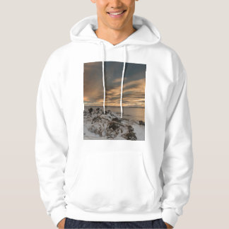 Sunset over lake Myvatn, Iceland Hoodie