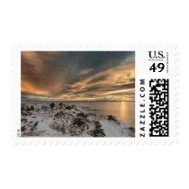 Sunset over lake Myvatn, Iceland Postage