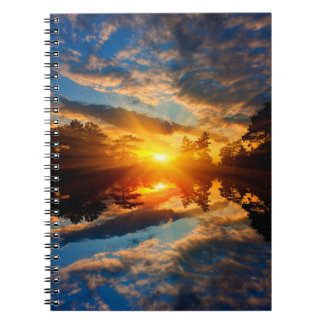 Sunset over Lake Notebook
