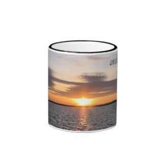 Sunset Over Lake Ringer Mug
