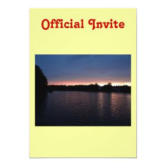 Sunset Over Lake Swan, Georgia Card