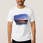 Sunset Over Lake Wabamun With Grass Tee Shirt