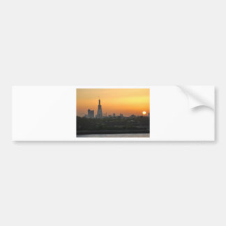 Sunset over London Bumper Sticker