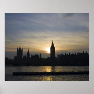 Sunset over London Print