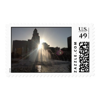 Sunset over Long Beach Stamps