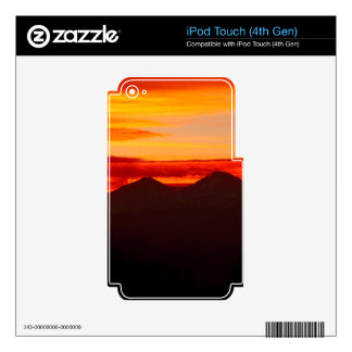 Sunset Over Longs Peak Colorado Skins For iPod Touch 4G