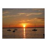 Sunset Over Lummi Island 5x7 Paper Invitation Card