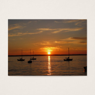 Sunset Over Lummi Island Business Card