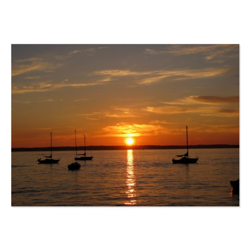 Sunset Over Lummi Island Large Business Cards (Pack Of 100)