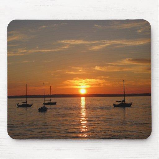 Sunset Over Lummi Island Mouse Pad