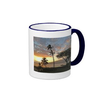 Sunset over Maalaea Bay, Maui Ringer Coffee Mug