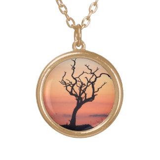 Sunset over Madikwe Round Pendant Necklace