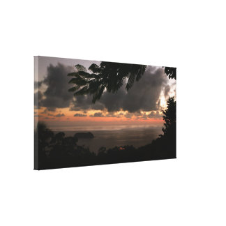 Sunset over Manuel Antonio, Costa Rica Gallery Wrapped Canvas