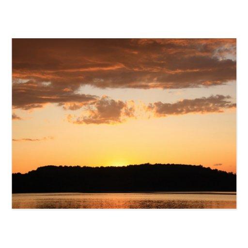 Sunset over Marsh Creek Postcard