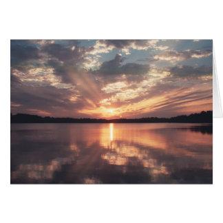 Sunset over McKinney Lake Card