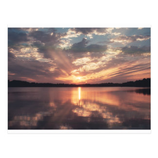 Sunset over McKinney Lake Postcard