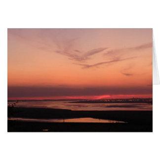 Sunset Over Merseyside Card