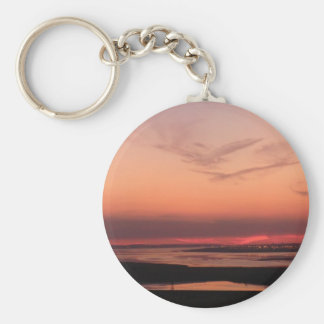 Sunset Over Merseyside Key Chain
