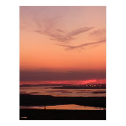 Sunset Over Merseyside Post Cards