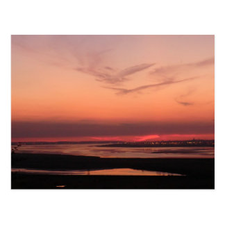 Sunset Over Merseyside Postcard