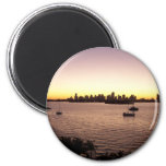 Sunset Over Miami 2 Inch Round Magnet