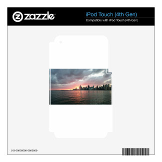 Sunset over Miami iPod Touch 4G Decal