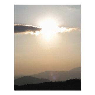Sunset over mountains letterhead