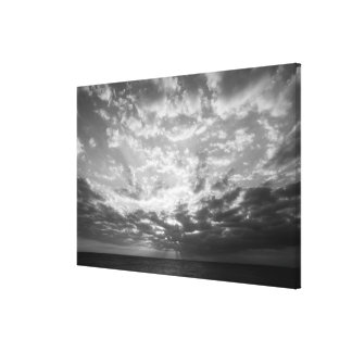 Sunset over ocean gallery wrap canvas