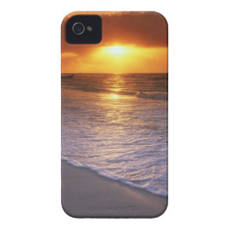 Sunset over ocean iphone case