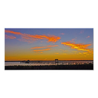 Sunset over Old Tampa Bay Photo Print