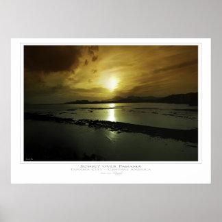 Sunset over Panama Print