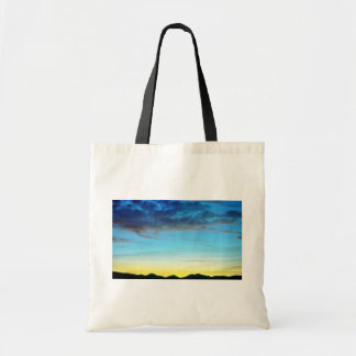 Sunset Over Panamint Mountains Canvas Bag